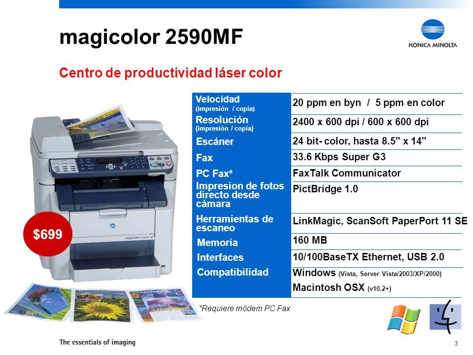 magicolor 2590MF Centro de productividad láser color $699