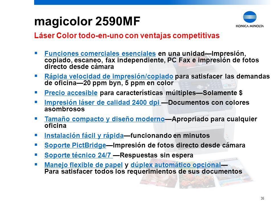 magicolor 2590MF Láser Color todo-en-uno con ventajas competitivas