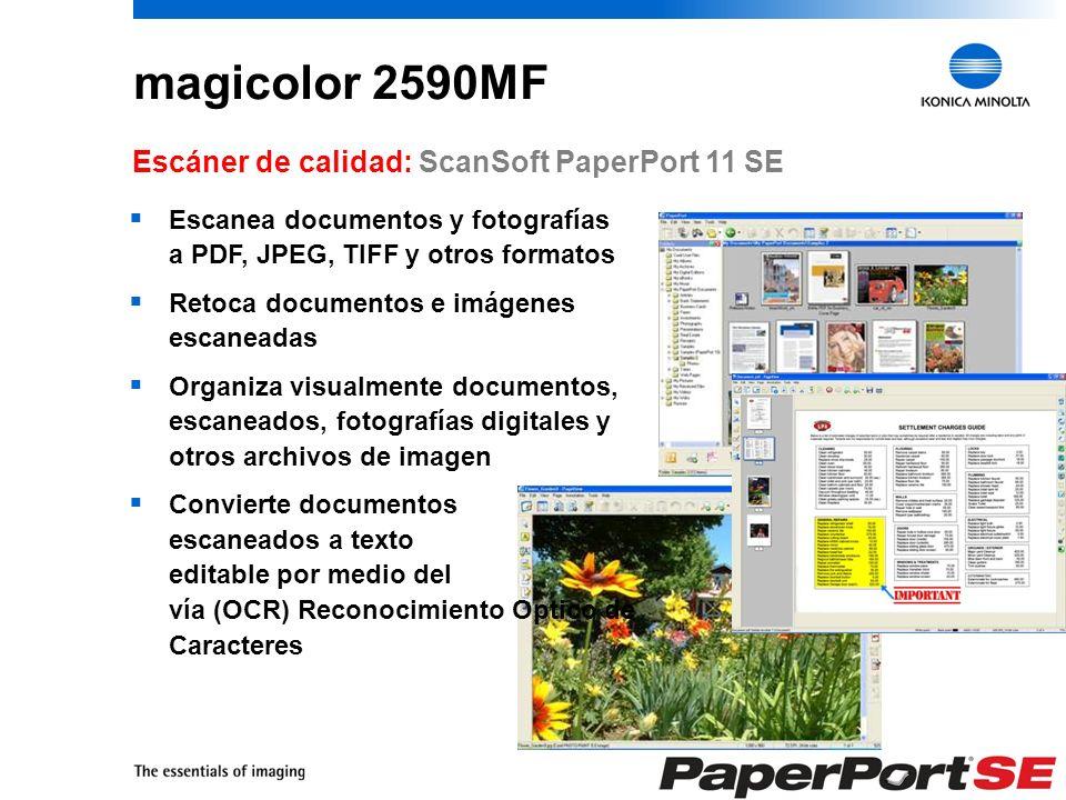 magicolor 2590MF Escáner de calidad: ScanSoft PaperPort 11 SE