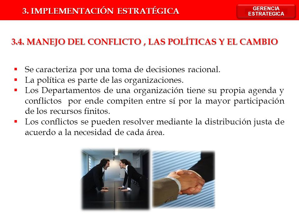 IMPLEMENTACIÓN DE LA ESTRATEGIA - ppt descargar Resolver Conflictos