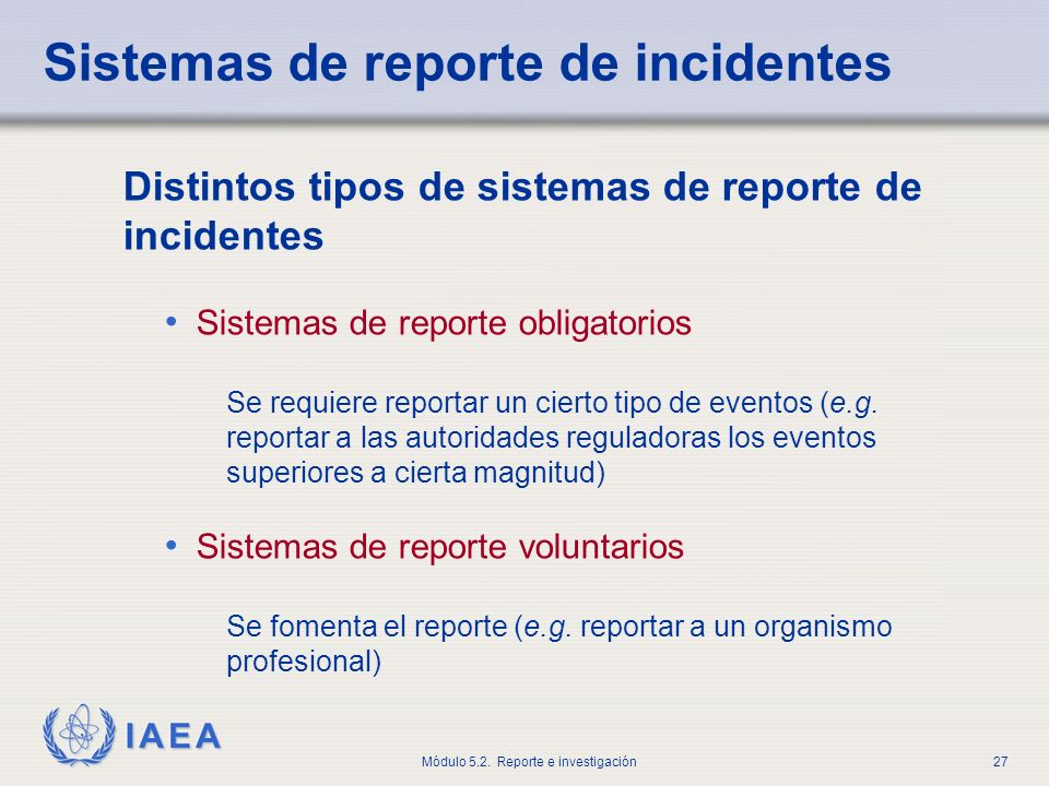 Sistemas de reporte de incidentes