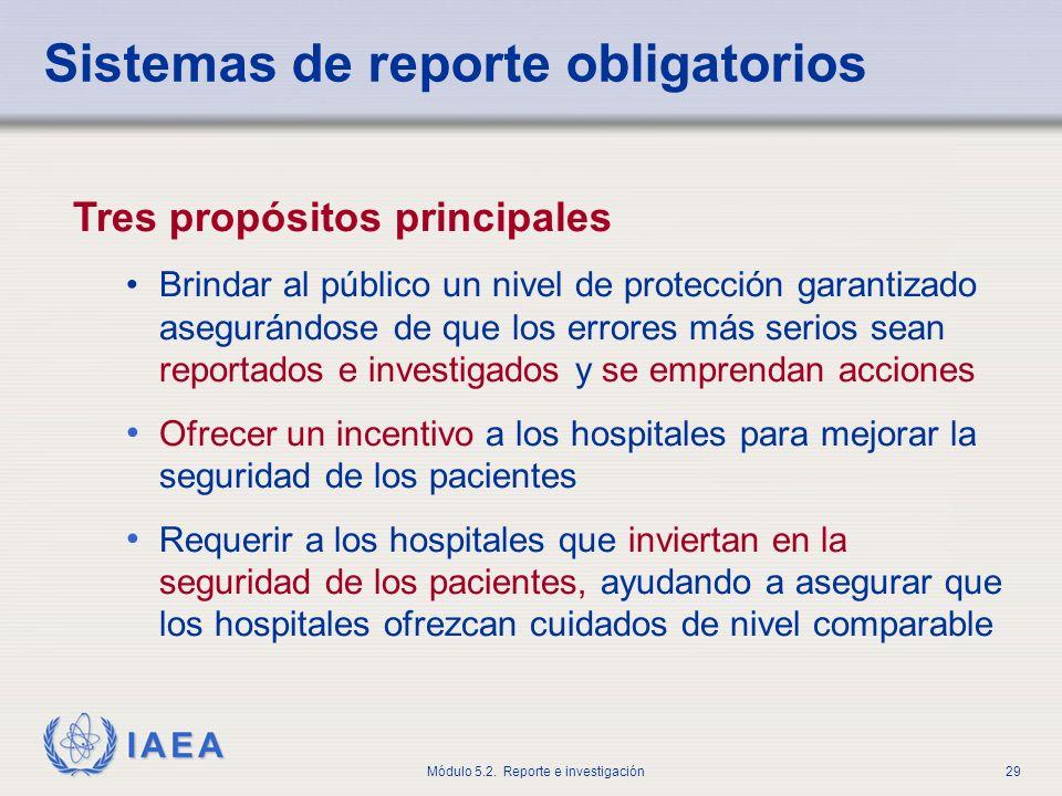 Sistemas de reporte obligatorios