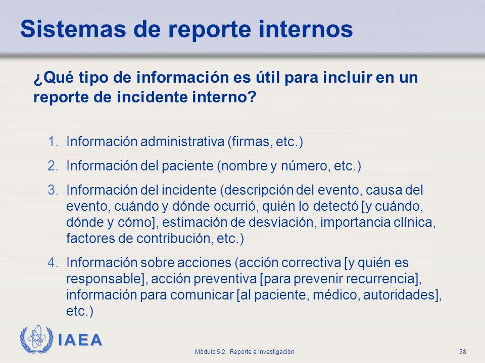 Sistemas de reporte internos