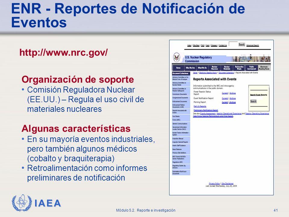 ENR - Reportes de Notificación de Eventos