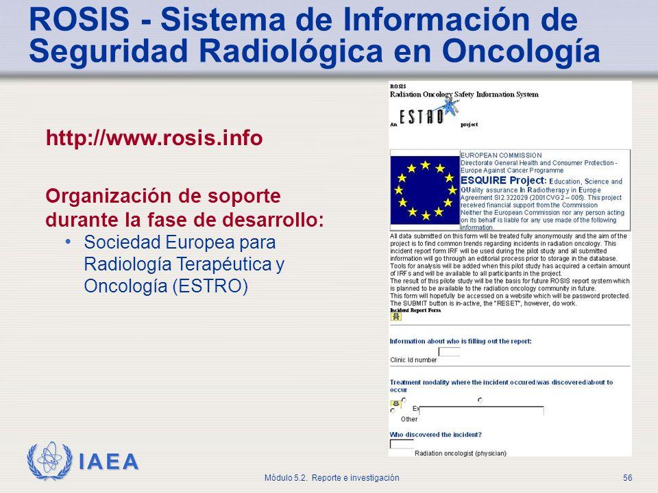ROSIS - Sistema de Información de Seguridad Radiológica en Oncología