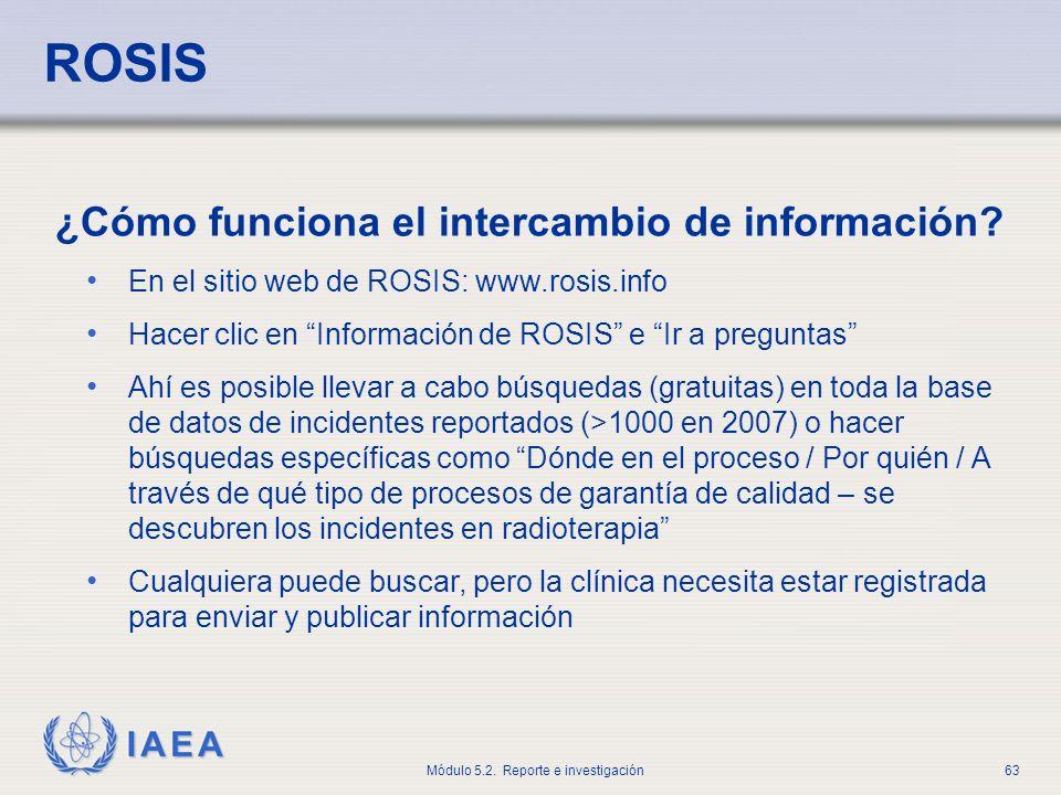 ROSIS ¿Cómo funciona el intercambio de información