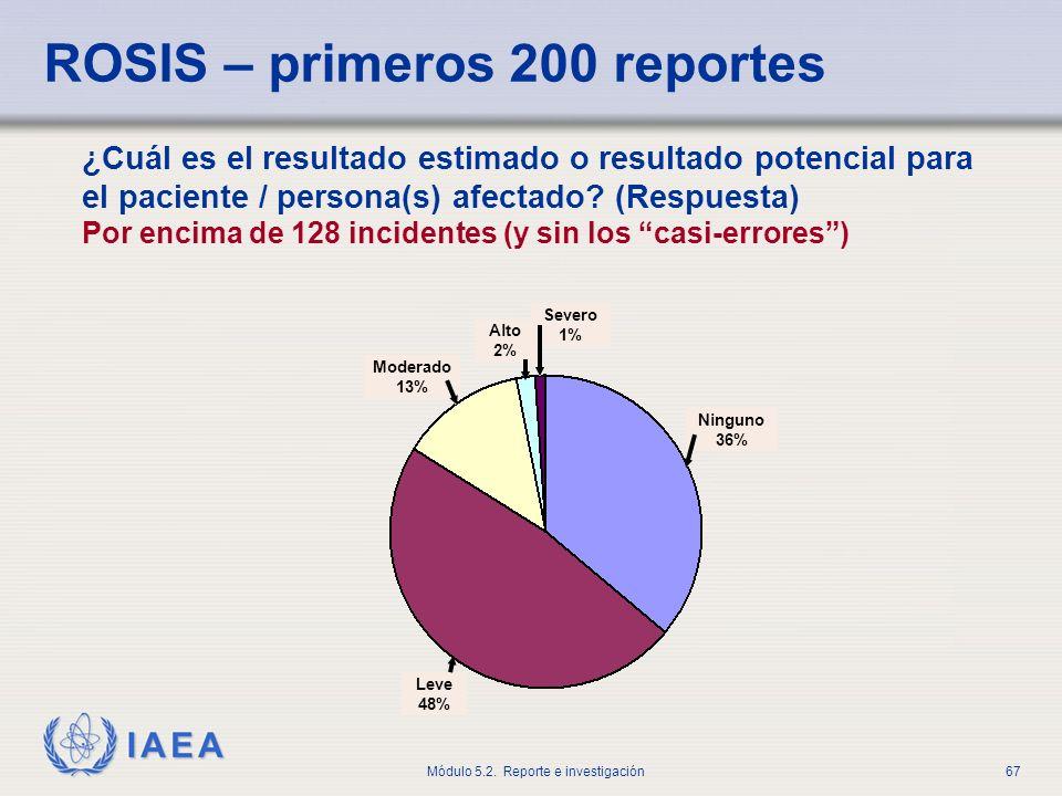 ROSIS – primeros 200 reportes