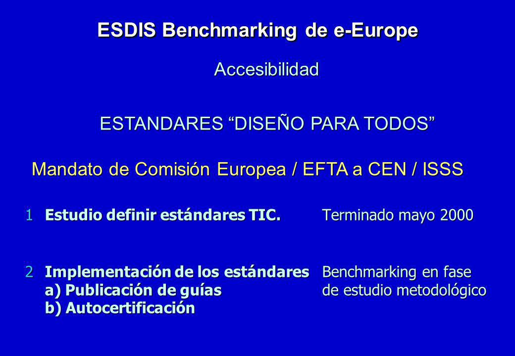 ESDIS Benchmarking de e-Europe