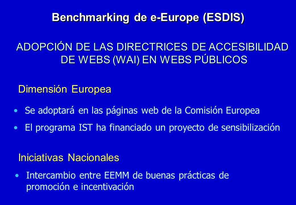 Benchmarking de e-Europe (ESDIS)