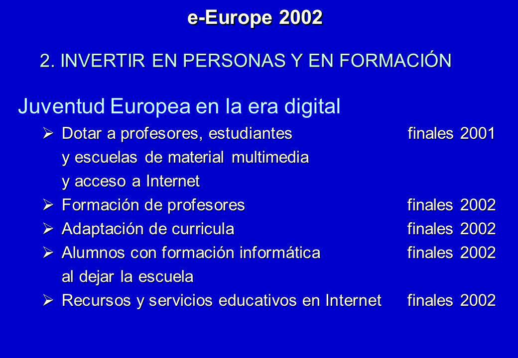 Juventud Europea en la era digital