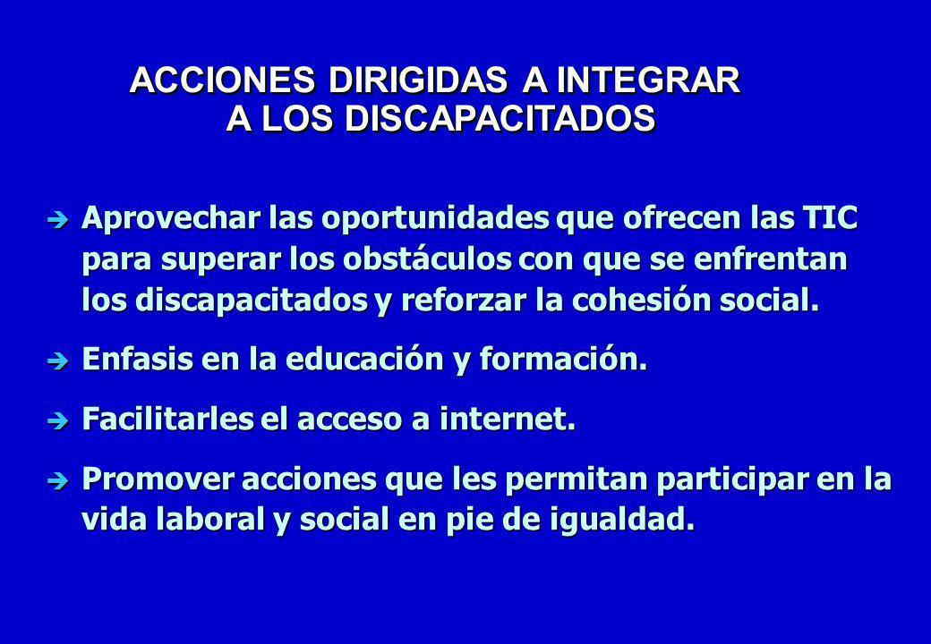 ACCIONES DIRIGIDAS A INTEGRAR