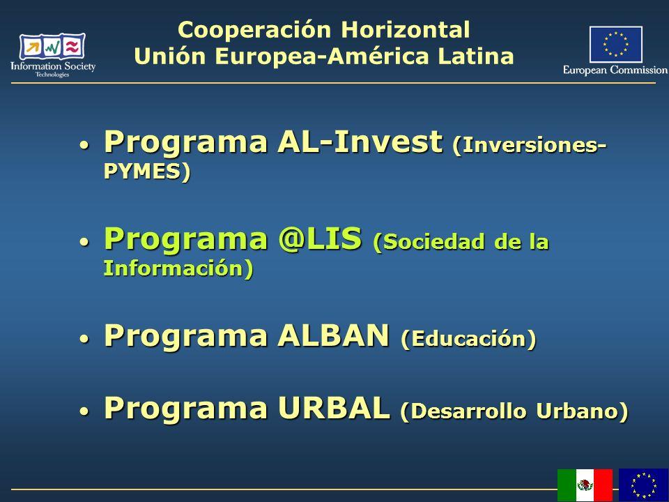Cooperación Horizontal Unión Europea-América Latina