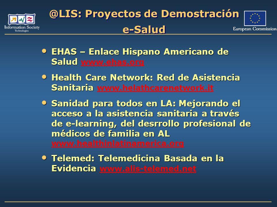 @LIS: Proyectos de Demostración e-Salud