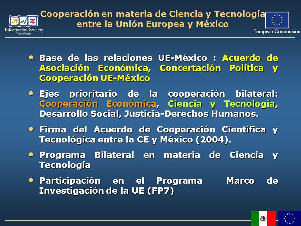 Cooperación en materia de Ciencia y Tecnología entre la Unión Europea y México