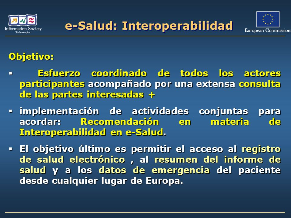 e-Salud: Interoperabilidad