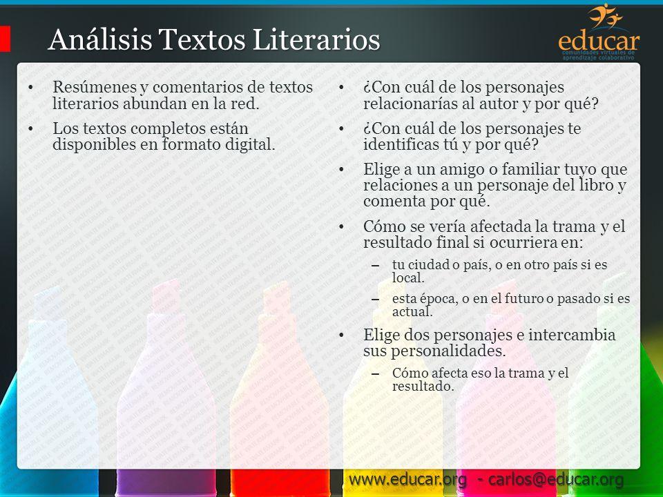 Análisis Textos Literarios
