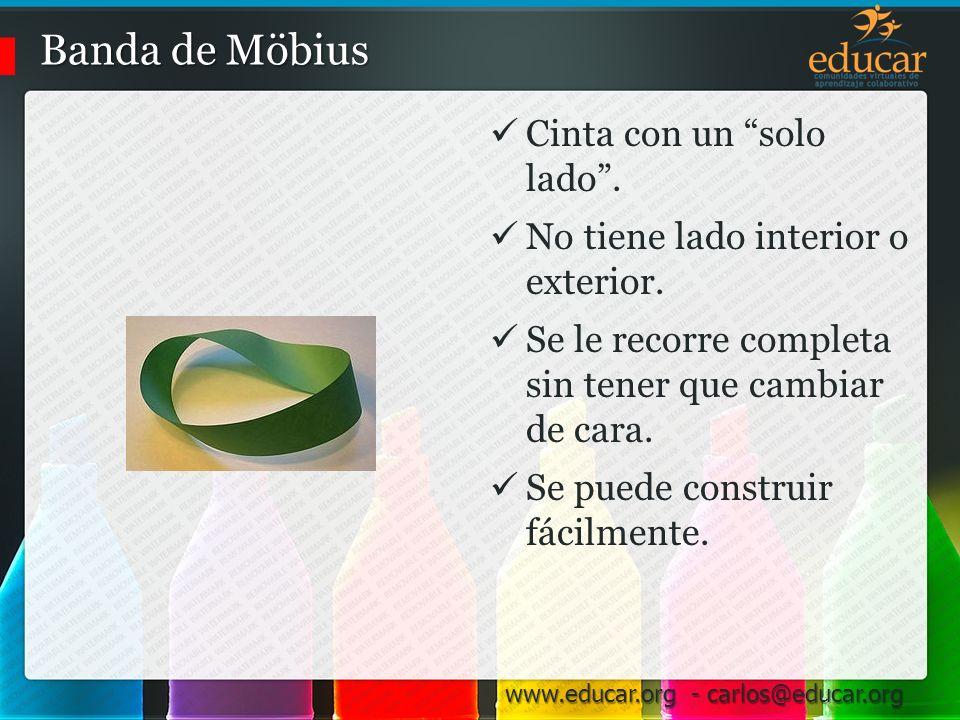 Banda de Möbius Cinta con un solo lado .