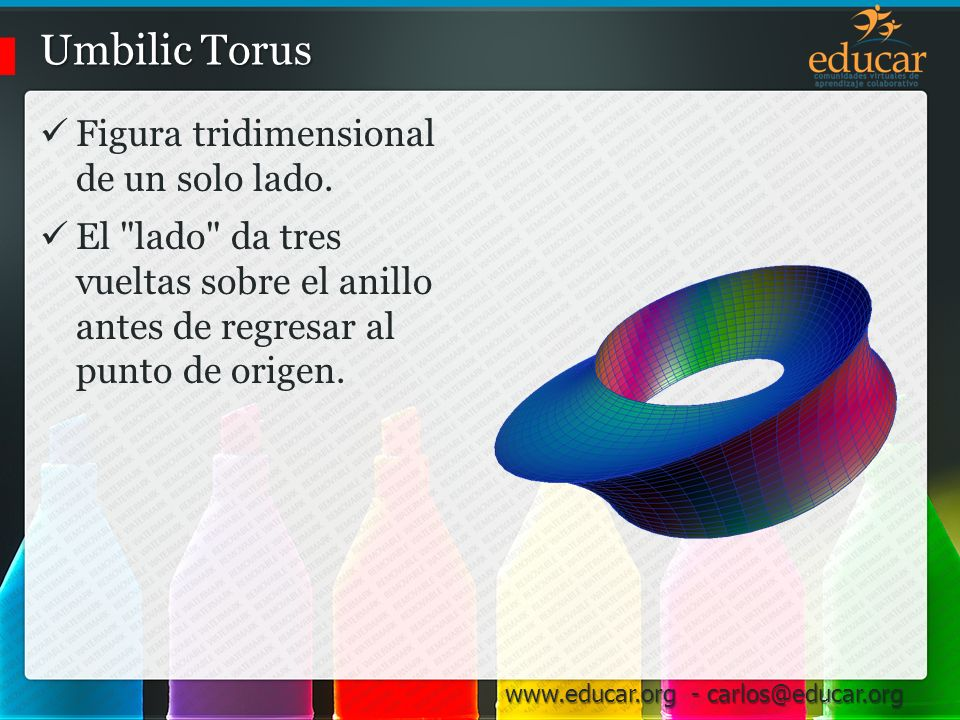 Umbilic Torus Figura tridimensional de un solo lado.
