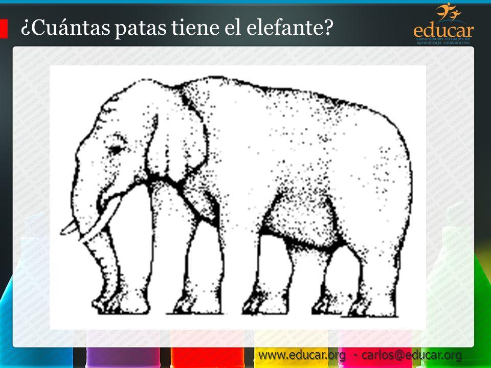 ¿Cuántas patas tiene el elefante