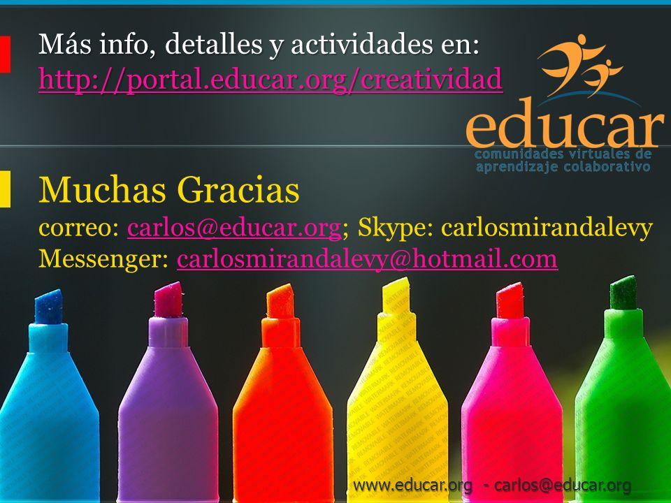 Más info, detalles y actividades en: http://portal. educar