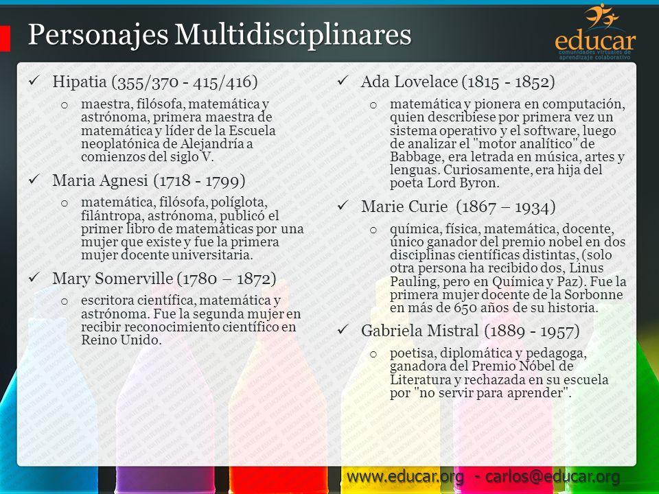 Personajes Multidisciplinares
