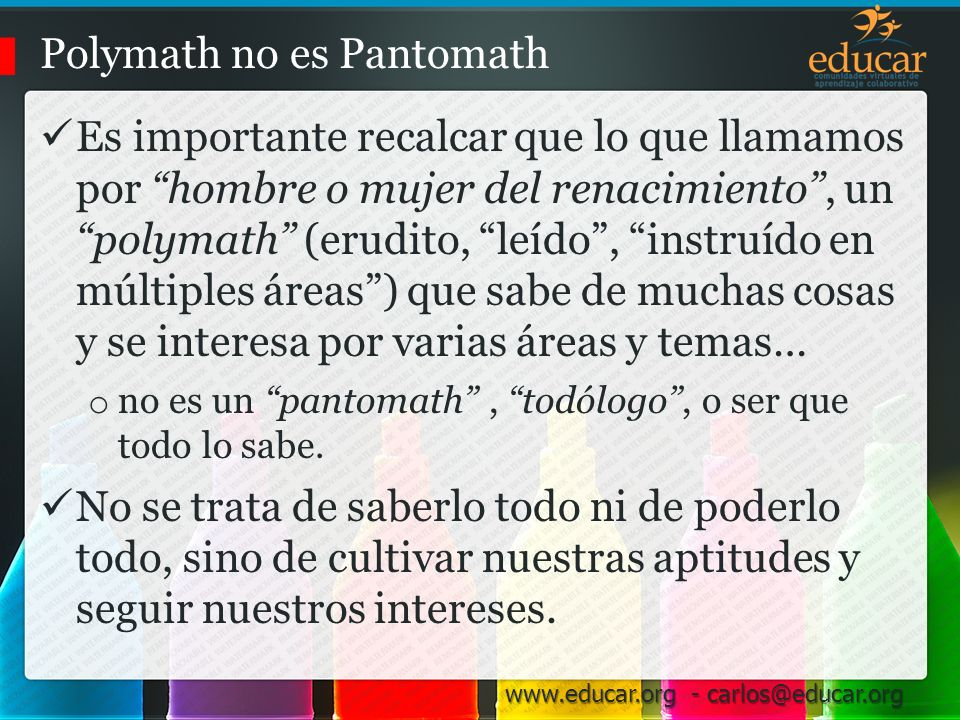 Polymath no es Pantomath