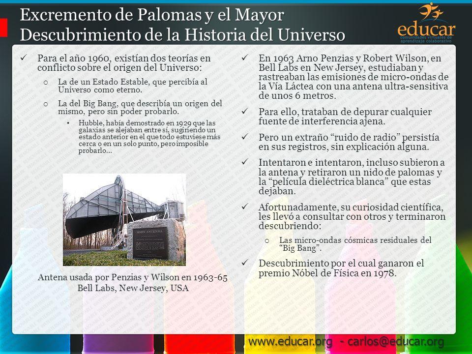 Excremento de Palomas y el Mayor Descubrimiento de la Historia del Universo