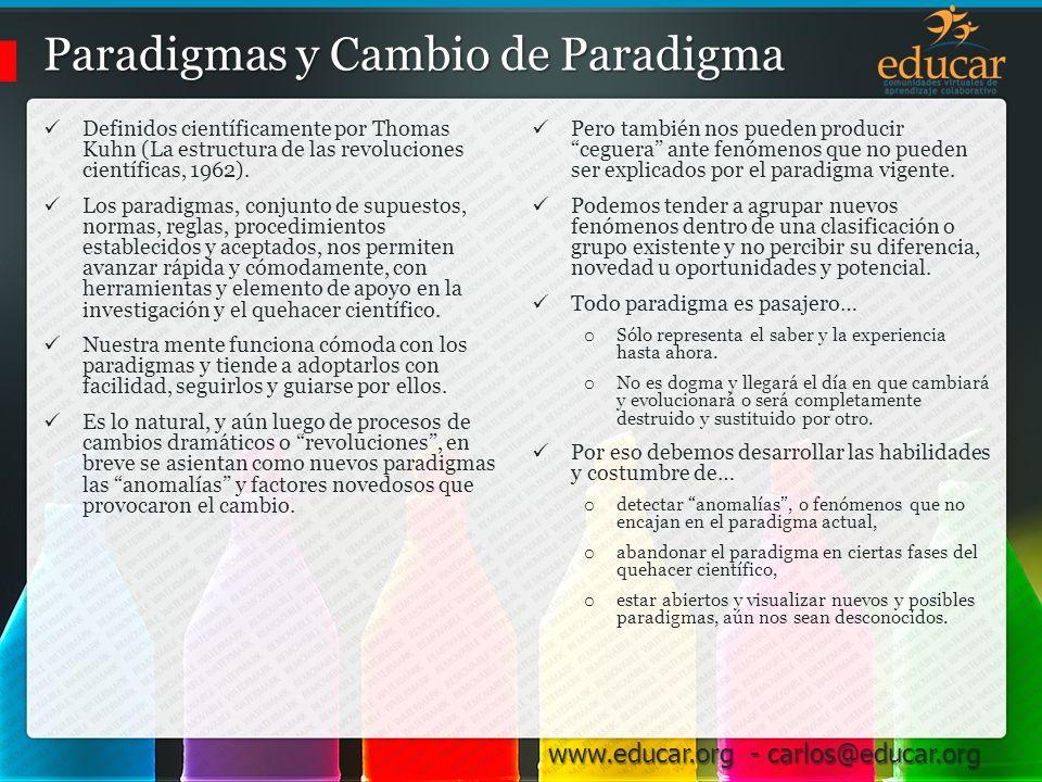 Paradigmas y Cambio de Paradigma