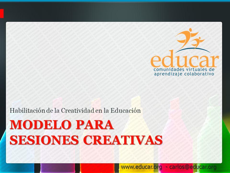 Modelo para Sesiones creativas