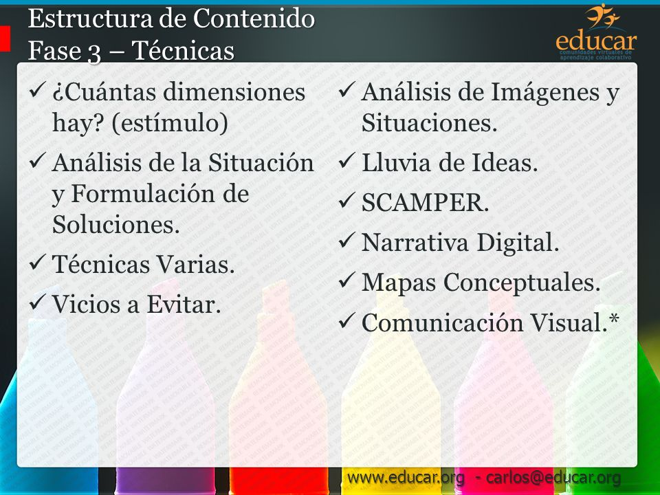 Estructura de Contenido Fase 3 – Técnicas