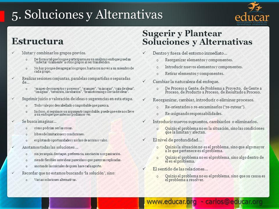 5. Soluciones y Alternativas