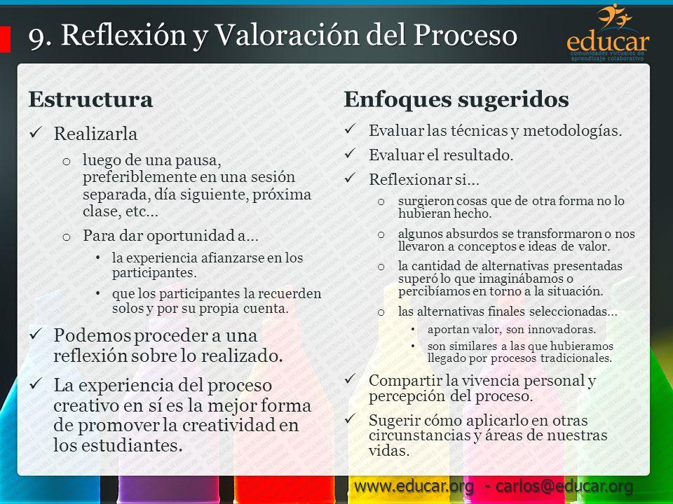 9. Reflexión y Valoración del Proceso