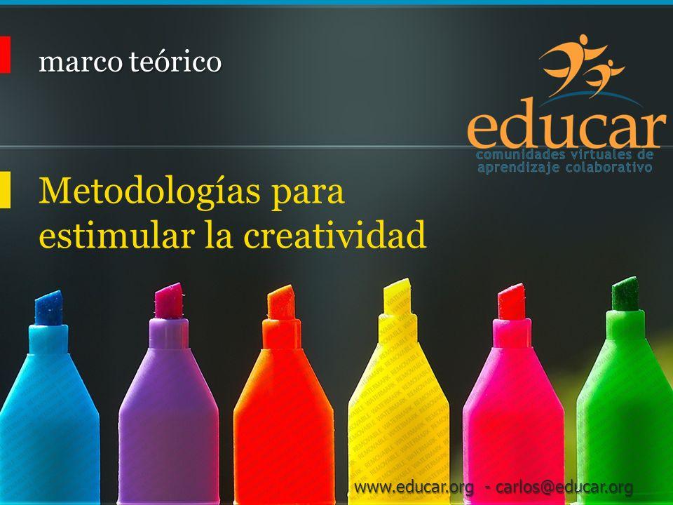 Metodologías para estimular la creatividad