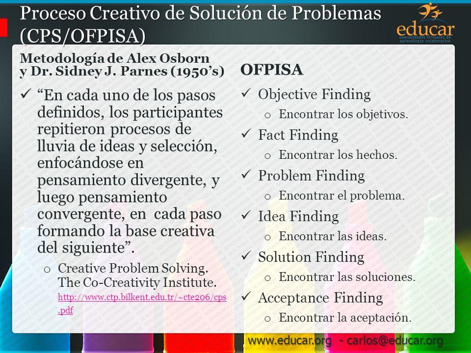 Proceso Creativo de Solución de Problemas (CPS/OFPISA)