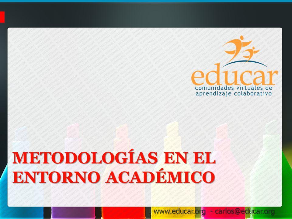 Metodologías en el entorno académico