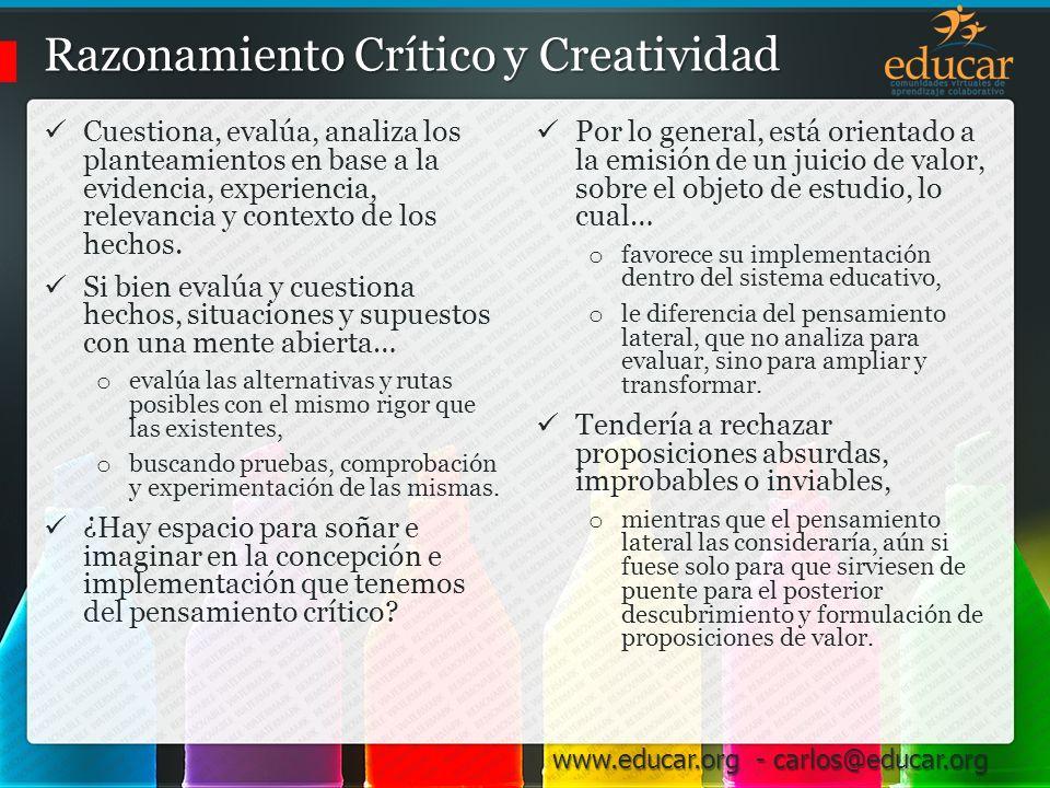 Razonamiento Crítico y Creatividad