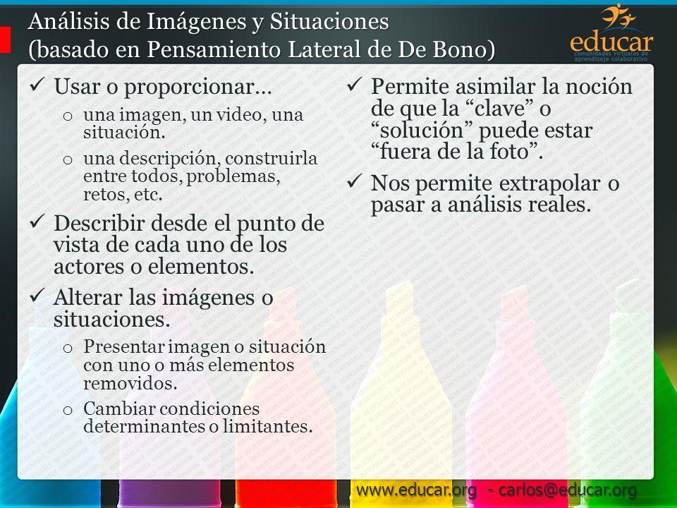 Análisis de Imágenes y Situaciones (basado en Pensamiento Lateral de De Bono)