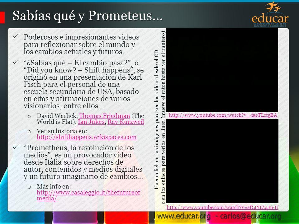 Sabías qué y Prometeus…