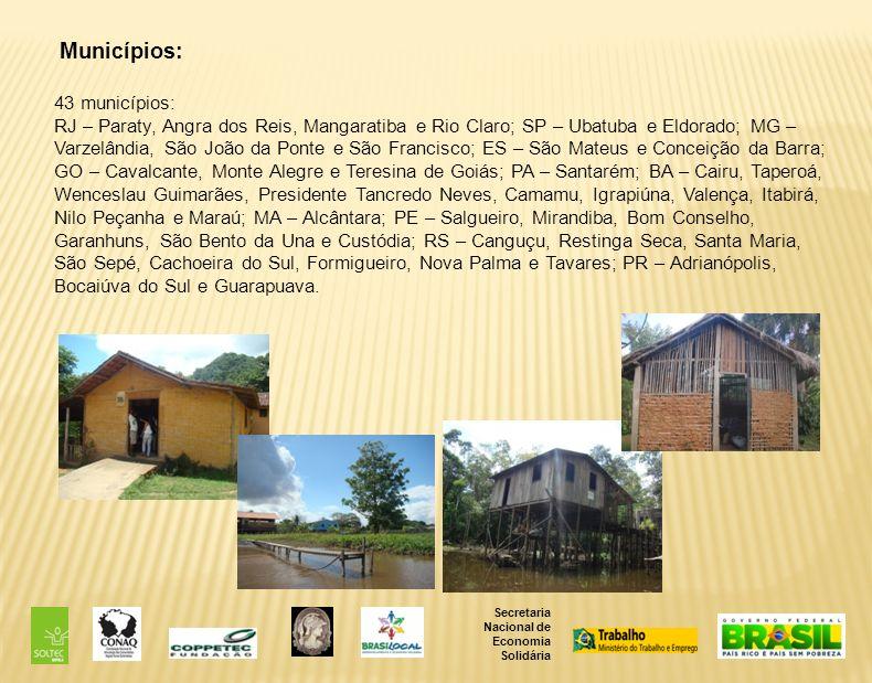 Municípios: 43 municípios:
