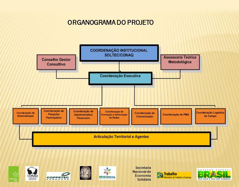 ORGANOGRAMA DO PROJETO