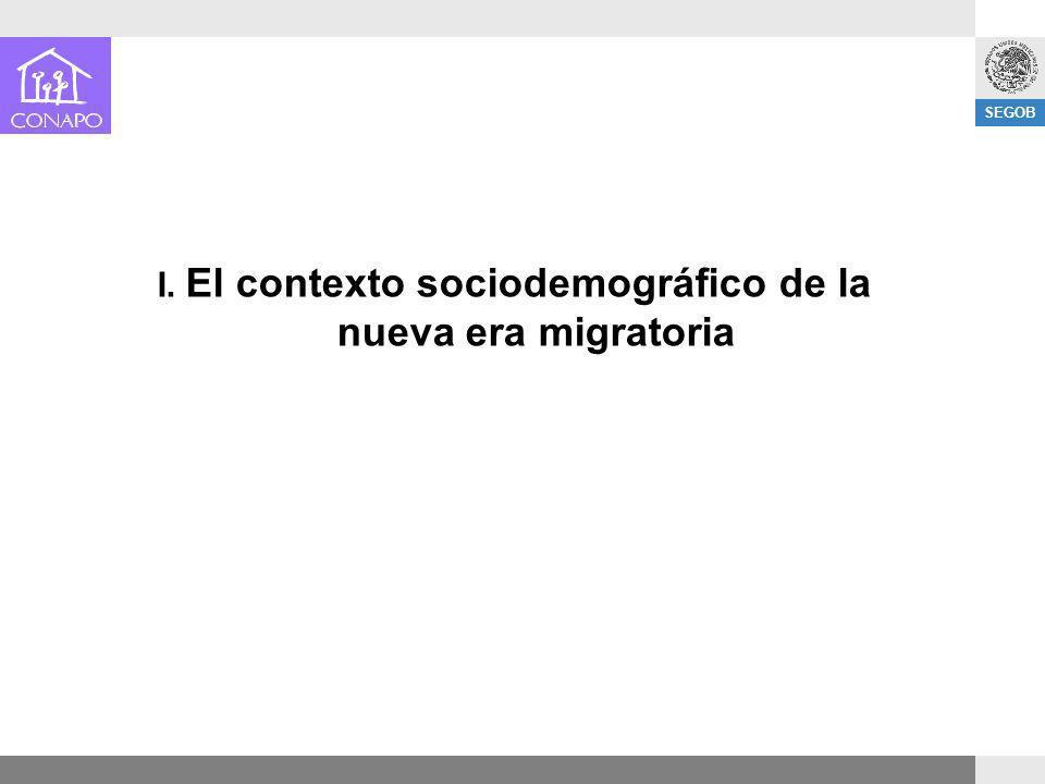 I. El contexto sociodemográfico de la nueva era migratoria