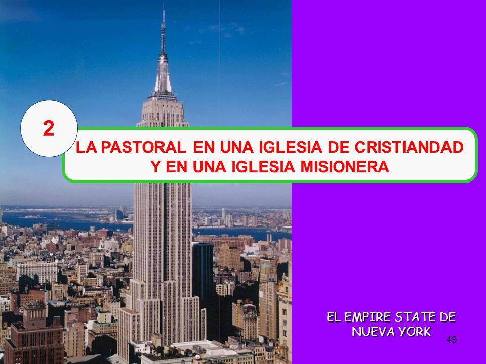 LA PASTORAL EN UNA IGLESIA DE CRISTIANDAD Y EN UNA IGLESIA MISIONERA