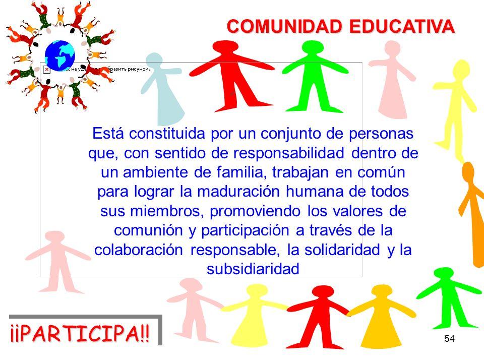 ¡¡PARTICIPA!! COMUNIDAD EDUCATIVA