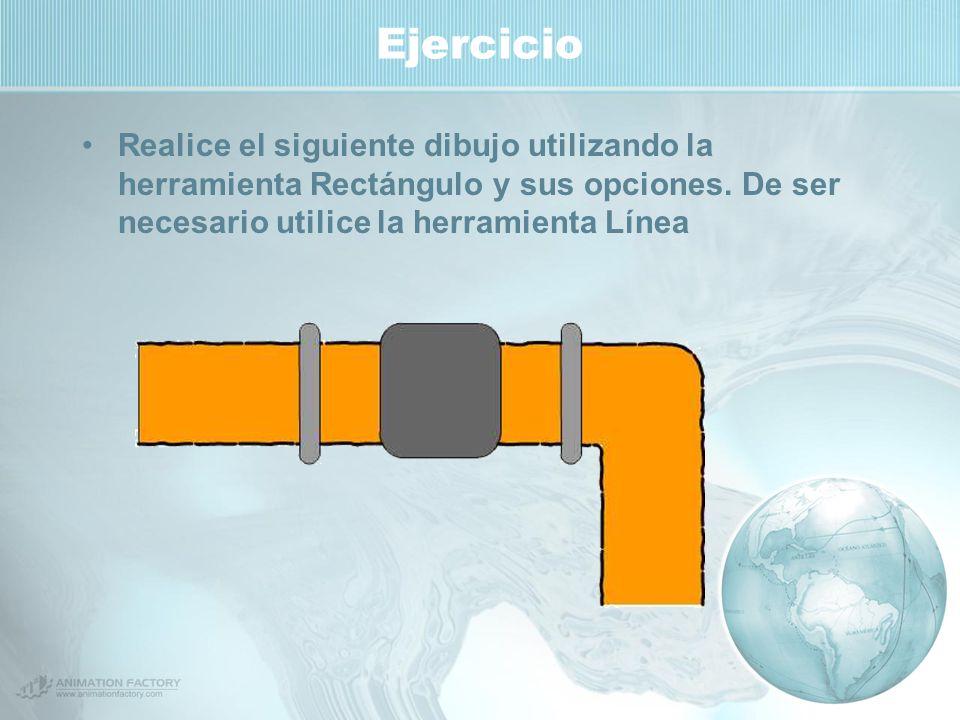 Ejercicio Realice el siguiente dibujo utilizando la herramienta Rectángulo y sus opciones.