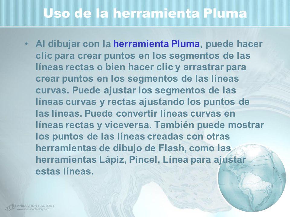 Uso de la herramienta Pluma
