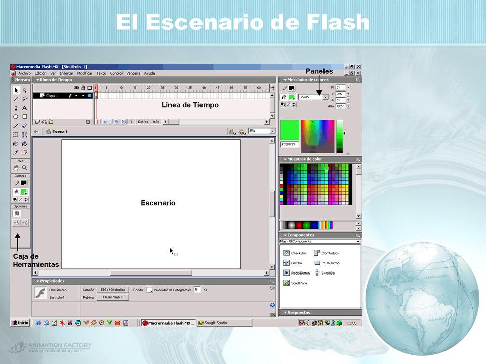 El Escenario de Flash