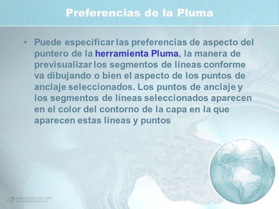 Preferencias de la Pluma