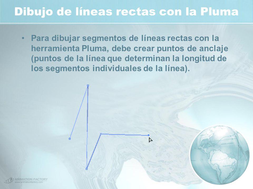 Dibujo de líneas rectas con la Pluma