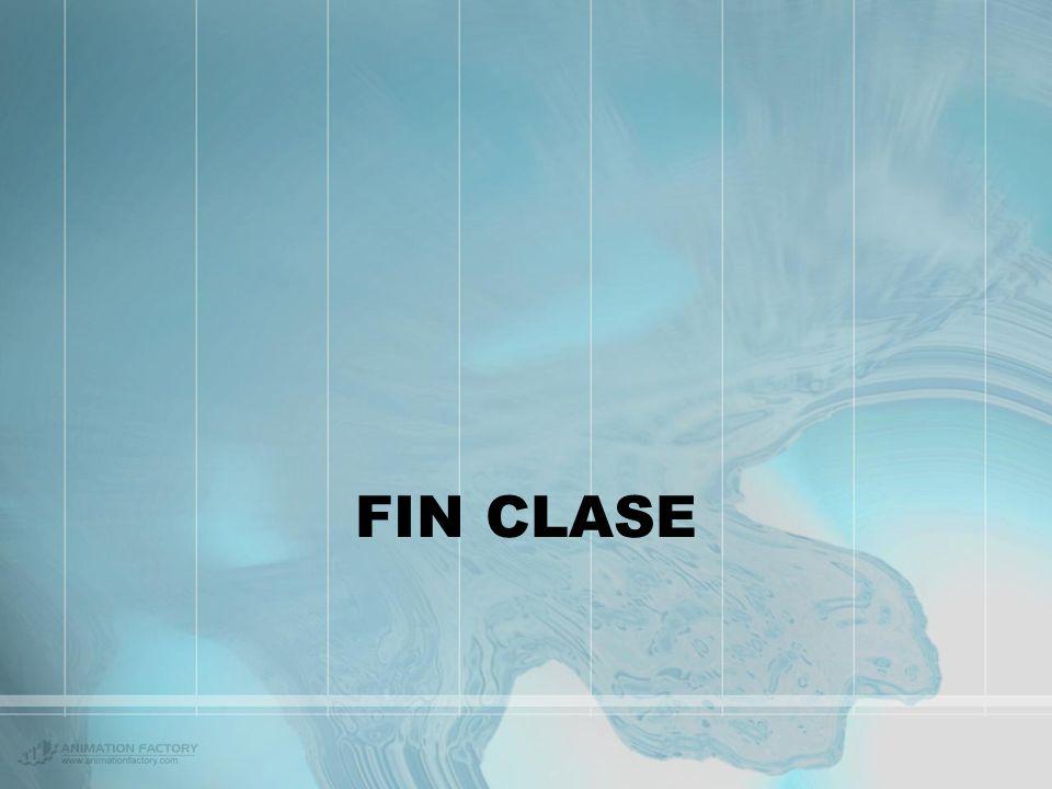 FIN CLASE
