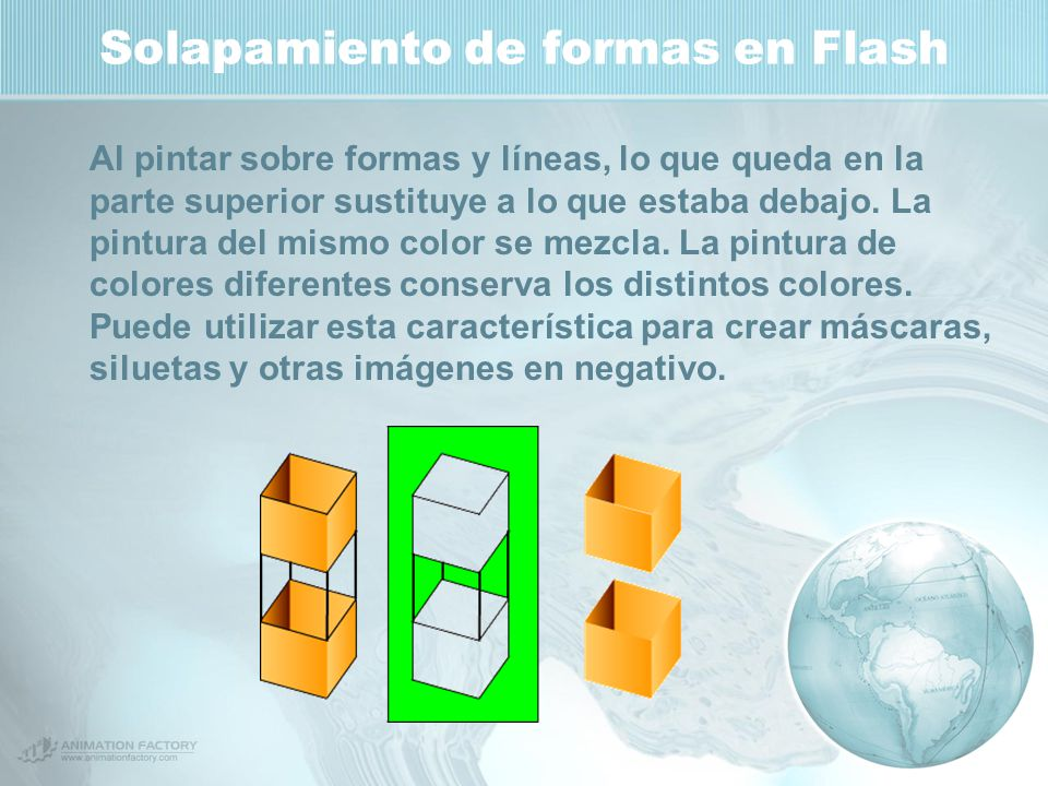 Solapamiento de formas en Flash